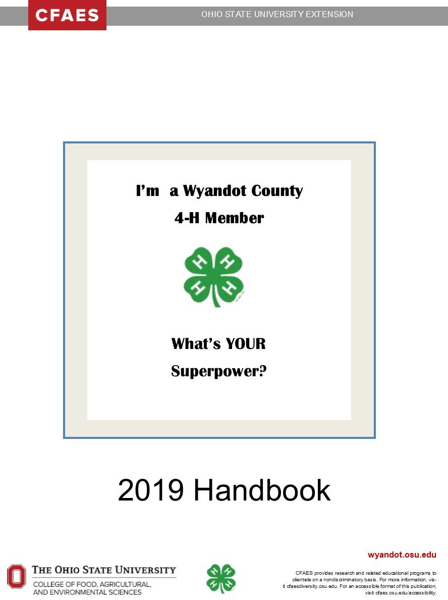2019 Wyandot County 4-H Handbook